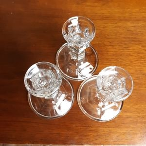 Vintage Accents - Vintage crystal glass candle holders